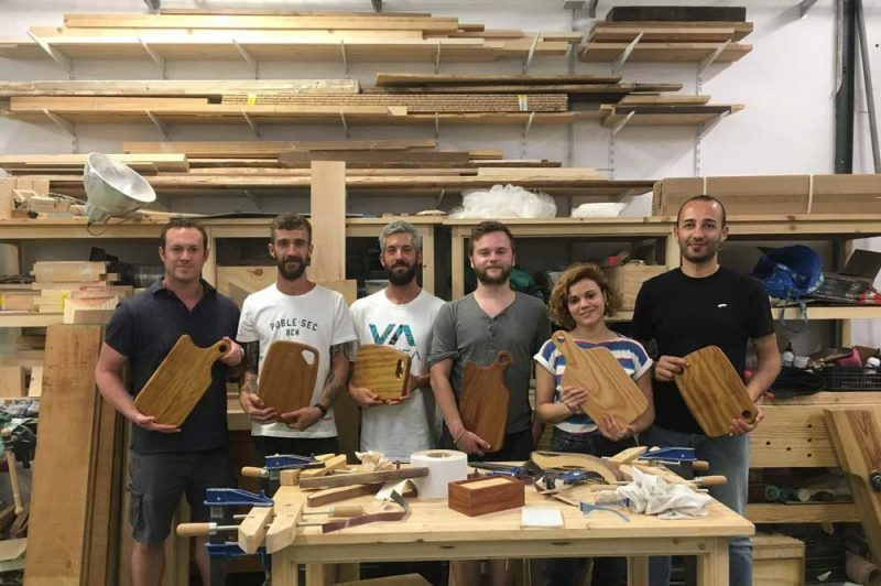 Woodworking course cheese board